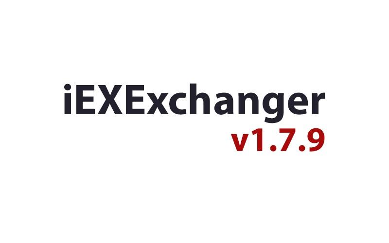 Обновление iEXExchanger v1.7.9